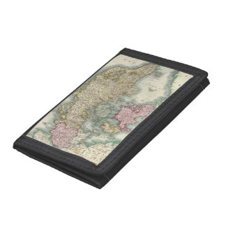 Vintage Map of Denmark (1801) Tri-fold Wallets