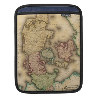 Vintage Map of Denmark (1831) Sleeves For iPads