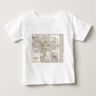 Vintage Map of Denver Colorado (1920) Baby T-Shirt