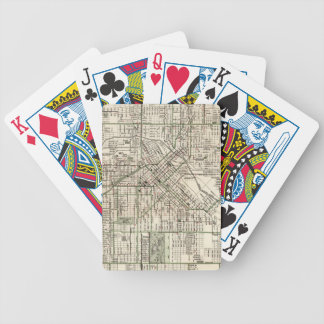 Vintage Map of Denver Colorado (1920) Bicycle Playing Cards