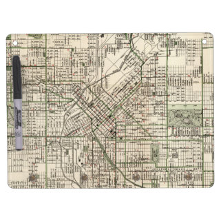 Vintage Map of Denver Colorado (1920) Dry Erase Board With Keychain Holder