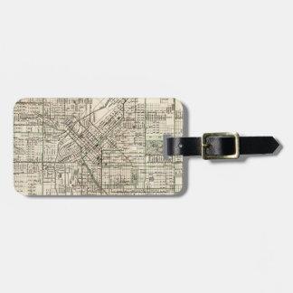 Vintage Map of Denver Colorado (1920) Luggage Tag