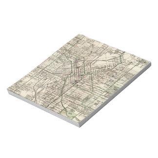 Vintage Map of Denver Colorado (1920) Notepad