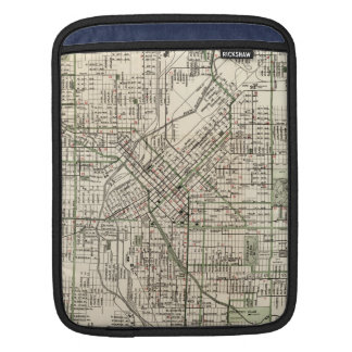 Vintage Map of Denver Colorado (1920) Sleeve For iPads