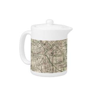 Vintage Map of Denver Colorado (1920) Teapot