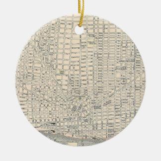 Vintage Map of Detroit (1895) Ceramic Ornament