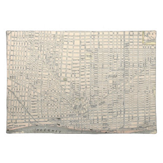 Vintage Map of Detroit (1895) Cloth Placemat