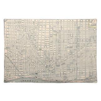 Vintage Map of Detroit (1895) Cloth Placemat