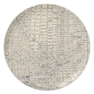 Vintage Map of Detroit (1895) Plate