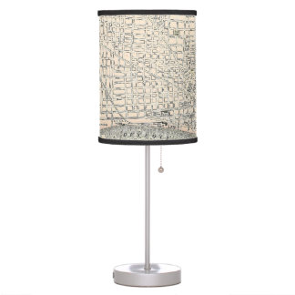 Vintage Map of Detroit (1895) Table Lamp