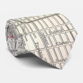 Vintage Map of Detroit Michigan (1872) Tie