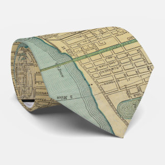 Vintage Map of Detroit Michigan (1895) Neck Tie