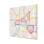 Vintage Map of Downtown Baltimore (1860) Stretched Canvas Print