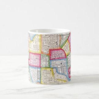 Vintage Map of Downtown Baltimore (1860) Classic White Coffee Mug
