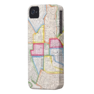 Vintage Map of Downtown Baltimore (1860) iPhone 4 Covers