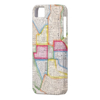 Vintage Map of Downtown Baltimore (1860) iPhone 5 Case