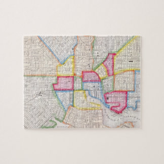 Vintage Map of Downtown Baltimore (1860) Jigsaw Puzzles