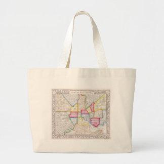 Vintage Map of Downtown Baltimore (1860) Jumbo Tote Bag