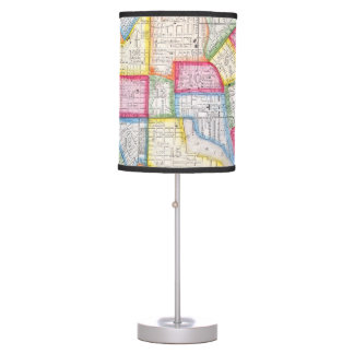 Vintage Map of Downtown Baltimore (1860) Table Lamp
