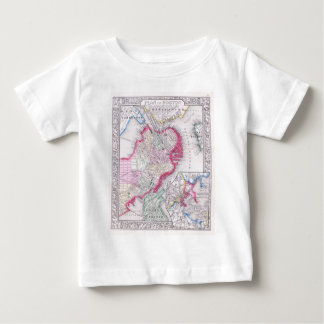 Vintage Map of Downtown Boston (1864) Baby T-Shirt
