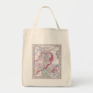 Vintage Map of Downtown Boston (1864) Canvas Bag