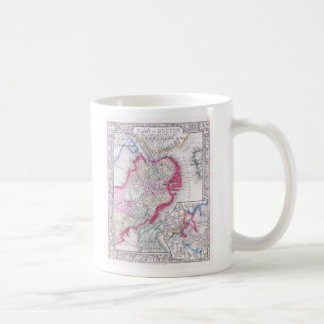 Vintage Map of Downtown Boston (1864) Coffee Mug