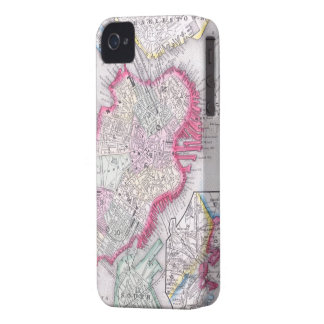 Vintage Map of Downtown Boston (1864) iPhone 4 Case