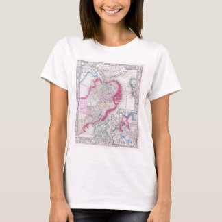 Vintage Map of Downtown Boston (1864) T-Shirt