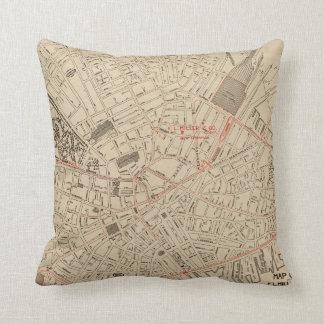 Vintage Map of Downtown Boston MA (1911) Throw Pillow