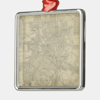 Vintage Map of Downtown Houston (1913) Ornaments