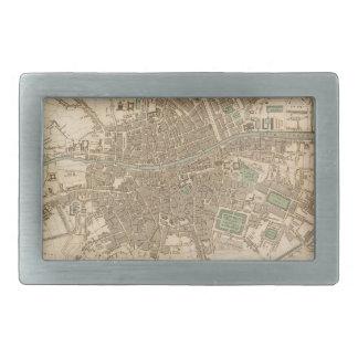 Vintage Map of Dublin (1836) Belt Buckles