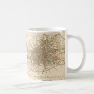 Vintage Map of Dublin (1836) Coffee Mug