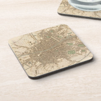 Vintage Map of Dublin (1836) Coasters