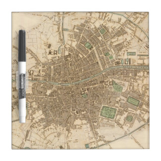 Vintage Map of Dublin (1836) Dry-Erase Whiteboards