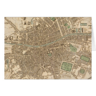 Vintage Map of Dublin (1836) Greeting Card