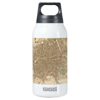 Vintage Map of Dublin (1836) Insulated Water Bottle