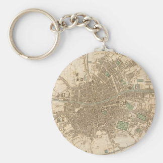 Vintage Map of Dublin (1836) Keychain
