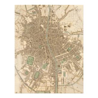 Vintage Map of Dublin (1836) Letterhead Design