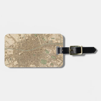 Vintage Map of Dublin (1836) Luggage Tags