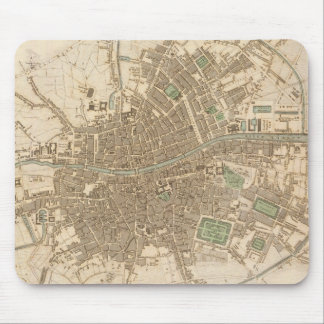 Vintage Map of Dublin (1836) Mouse Pad