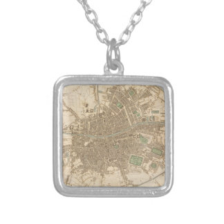 Vintage Map of Dublin (1836) Jewelry