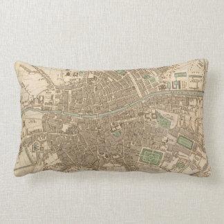 Vintage Map of Dublin (1836) Pillows