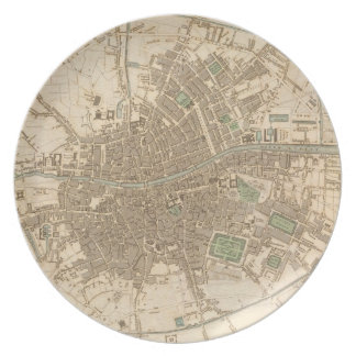 Vintage Map of Dublin (1836) Plate