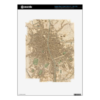 Vintage Map of Dublin (1836) Decals For iPad 3