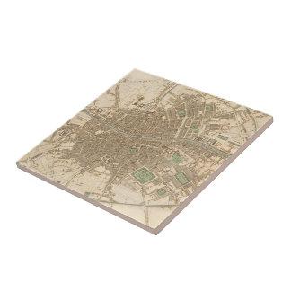 Vintage Map of Dublin (1836) Tiles
