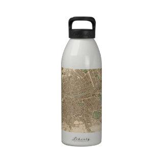 Vintage Map of Dublin (1836) Water Bottles