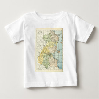 Vintage Map of Dublin and Surrounding Areas (1900) Baby T-Shirt