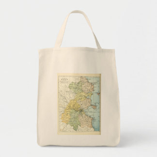 Vintage Map of Dublin and Surrounding Areas (1900) Canvas Bags
