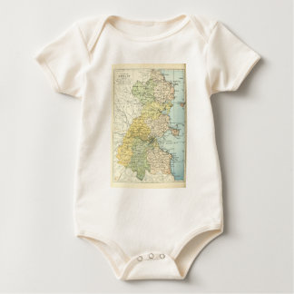 Vintage Map of Dublin and Surrounding Areas (1900) Bodysuit