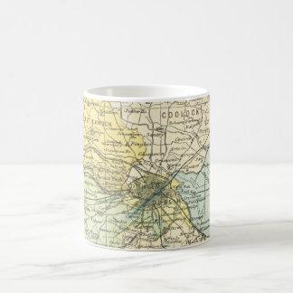 Vintage Map of Dublin and Surrounding Areas (1900) Coffee Mug